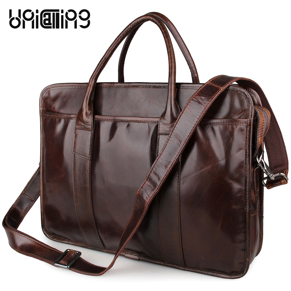 Laptop bag 15 inch genuine leather men business bag laptop messenger bag high quality leather men handbag laptop shoulder bag bag messenger bag casual laptop business messenger bag factory direct new 2017 high end fashion men s shoulder bag leather