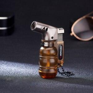 Image 5 - Компактная Бутановая струйная зажигалка, факельная турбо зажигалка для труб, мини пистолет распылитель, ветрозащитная Зажигалка для сигар, 1300 с, без газа