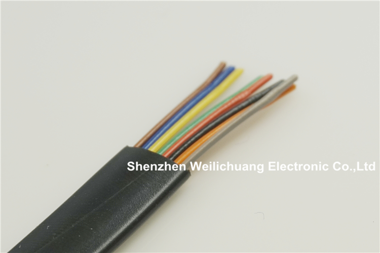 5 meter UL 26251 Flat Cable 8 conductor 26 AWG 7 0 16mm Oxygen free copper