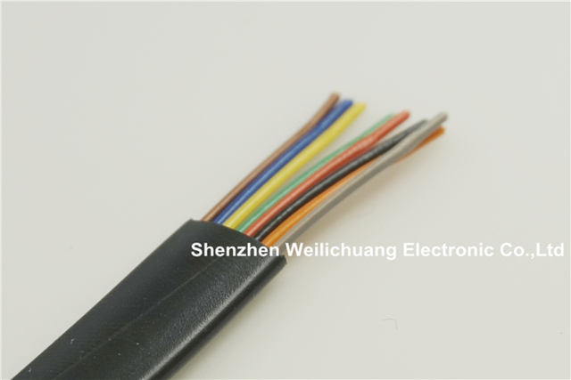 5 meter UL 26251 Flat Cable 8 conductor 26 AWG 7/0.16mm Oxygen free ...
