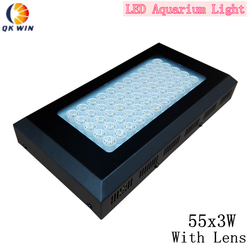 Qkwin Dimmable 165w LED Aquarium Light grow light 55x3W dimmable Reef Marine Coral Lamp
