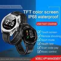 Ksr901 esporte relógio inteligente bluetooth android/ios telefones 4g à prova dwaterproof água gps tela de toque esporte saúde