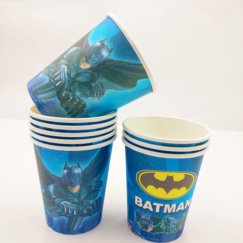 Detail Feedback Questions About 10pcs Incredible Batman Themed Cup Supplies Party Favor Ideas 1st Birthday Invitations Decorations Plastic Tableware