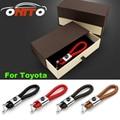 Hot Selling Auto Key Holder Woven belt Ring Car Key Chain Camry Yaris RAV4 Prius Land Cruiser Corolla Celica