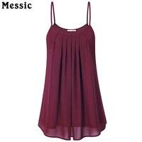 Laksmi Women S Summer Sleeveless Pleated Chiffon Layered Cami Front Pleat Cool Tank Top