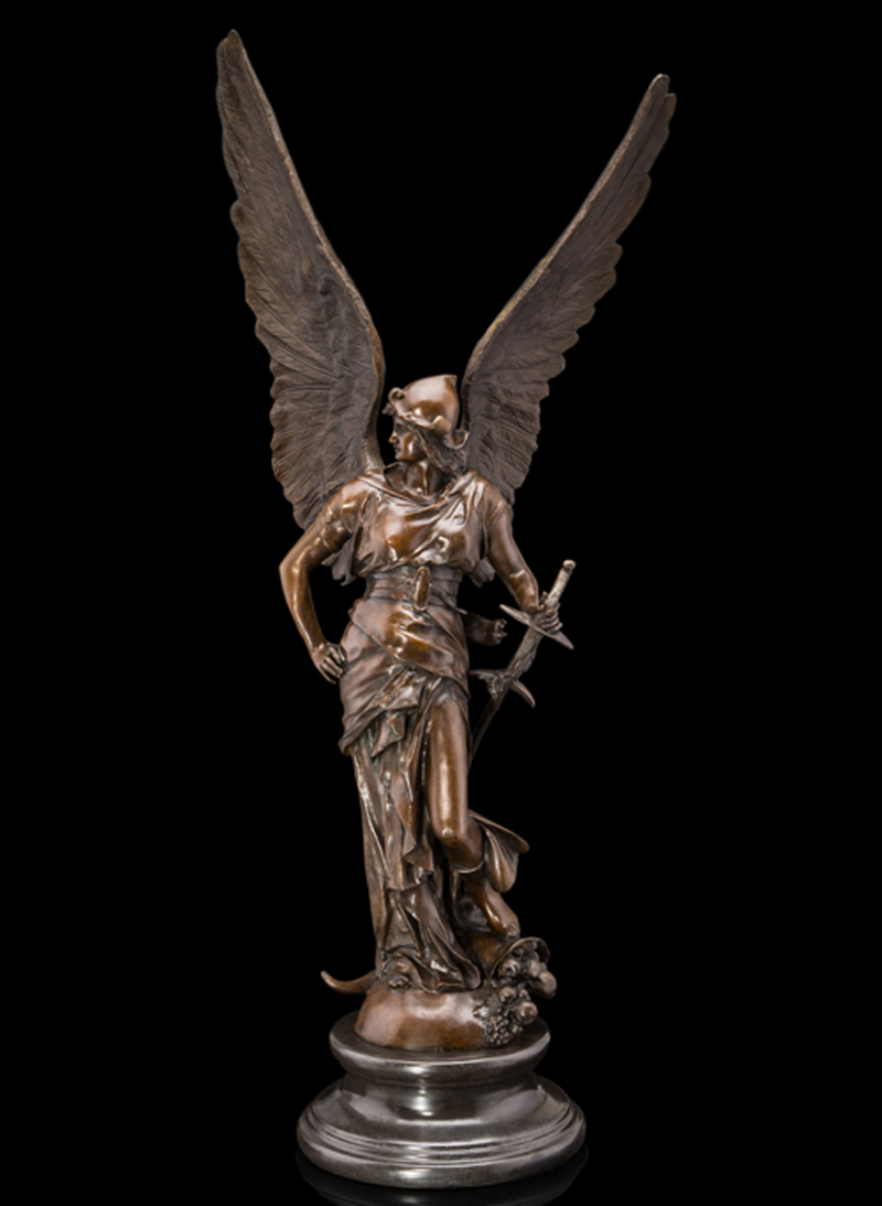 Real Bronze Marble Sculpture Louvre Art Winged Victory Glory Angel Bust Statue Garden Decoration 100% Real Brass Bronze