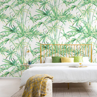 Nordic Wind Wallpaper Ins Southeast Asia Tropical Rain Forest Palm Green Plant OSLON Nonwovens Living Room Bedroom Wallpaper