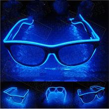 Gafas de sol con luz Led intermitente EL Wire, iluminación decorativa para Fiesta de Luces, regalo clásico, luz LED brillante, 1 ud.