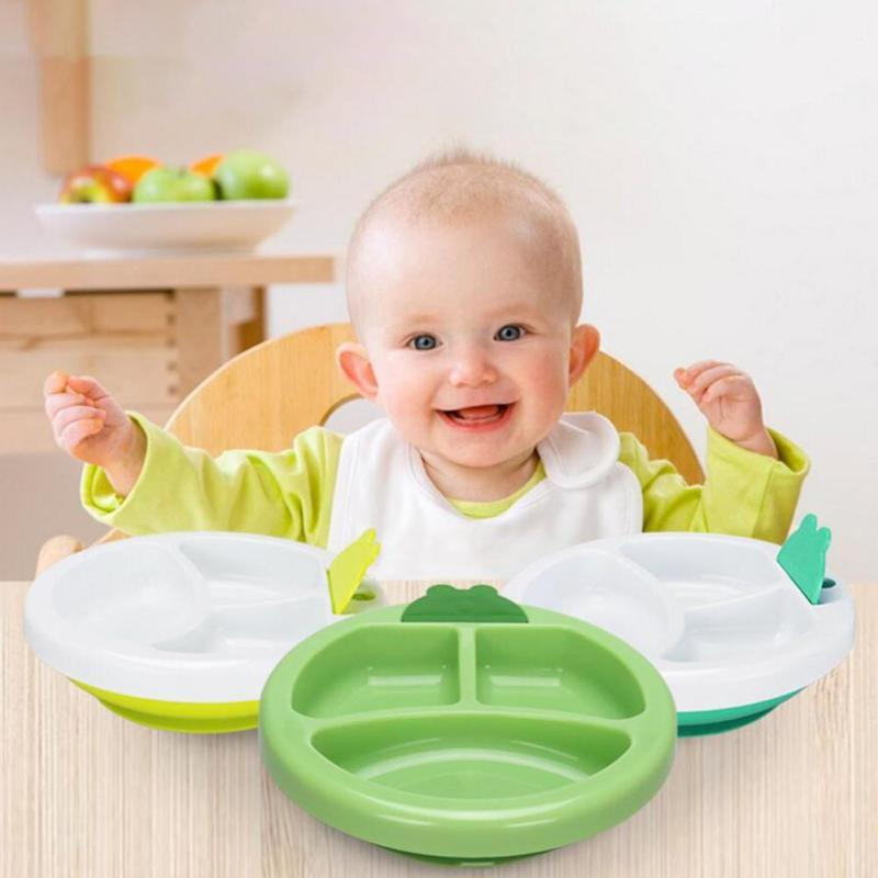 Non-slip Kids Warming Plate 3 cells infant children feeding Bowl Baby kids learning dishes Child Tableware Insulation Bowl D3