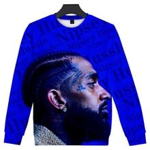 New Round neck 3D Nipsey Hussle Sweatshirt Hot Rap harajuku Warm Men Hoodie Women Hip Hop Leisure Cool