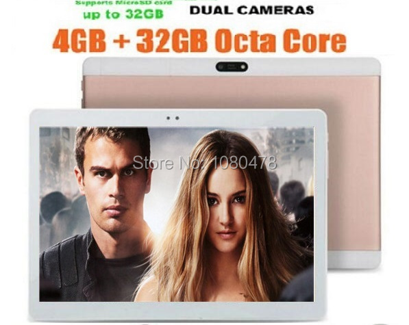 10 inch 3G Tablet Android 5.1 Octa Core 1280x800 IPS Display 4GB RAM 32G ROM Dual SIM Card Pad WiFi Bluetooth GPS Tablets