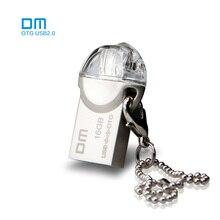 Бесплатная доставка DM OTG USB PD002 USB2.0 8 г 16 г 32 г с двойной разъем используется для смартфонов и компьютер 100% водонепроницаемый