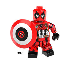 Single Sale Super Heroes Star Wars 381 Deadpooled Captain America Building Block Figure Brick Toy gift Compatible Legoed Ninjaed(China)