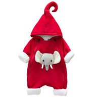 2018 Tosleo Elephant Baby Rompers Newborn Boys Clothes High Quality Spring Hooded Clothing Kids Autumn Jumpsuits Baby Overall