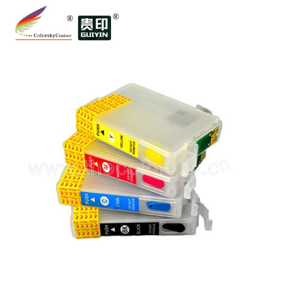 RCE-1051-1054) многоразовый картридж с чернилами для принтера Epson T1051-T1054 105 BK/C/M/Y T10 T20 TX100 TX200 TX209 в лоте; dhl