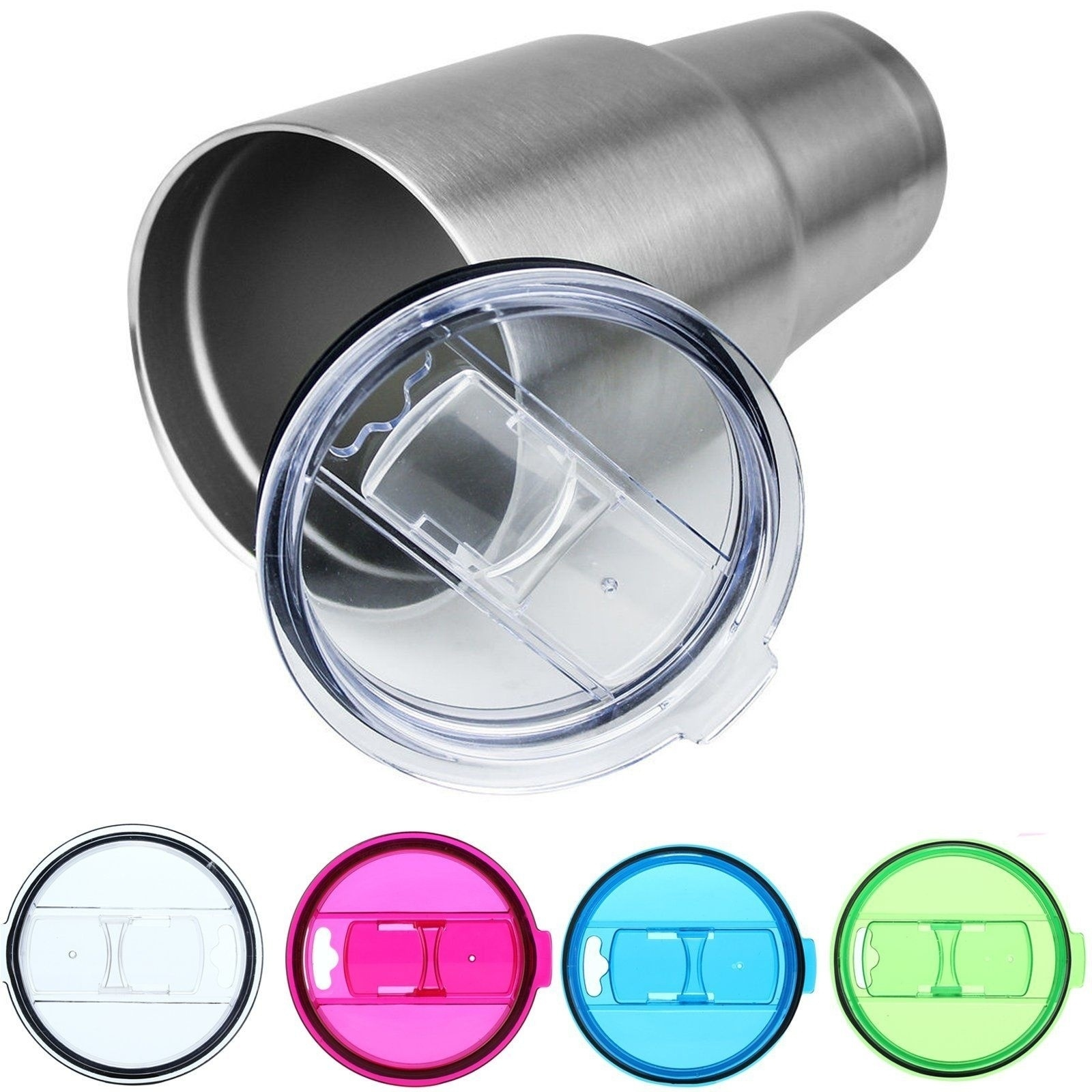 ZELU 7 Colors Replacement Splash Spill Proof Lid For RTIC / <font><b>YETI</b></font> <font><b>Rambler</b></font> <font><b>30</b></font> <font><b>Oz</b></font> <font><b>Tumbler</b></font> <font><b>Cup</b></font> Mug 6D