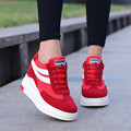 Increased Women Spring Shoes 2017 New Fashion wild school students slope casual shoes female red training shoes