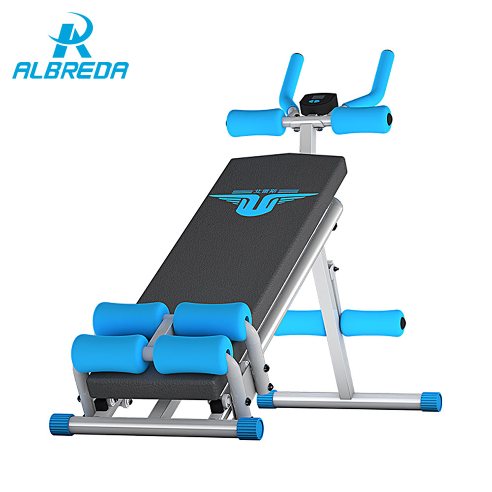 ALBREDA 2017 Multi-functional ABS Abdomen Machine Sports Fitness Equipment For home Abdominal Training Sit-ups Muscle exercise fitness padded gravity boots safety locking mechanism ankle hooks abdominal workout training hang up ab gym equipment