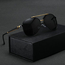 New Fashion Colorful Protect Lens Sunglasses Handsome Anti-Reflective Men Glasses with Box Free Shipping