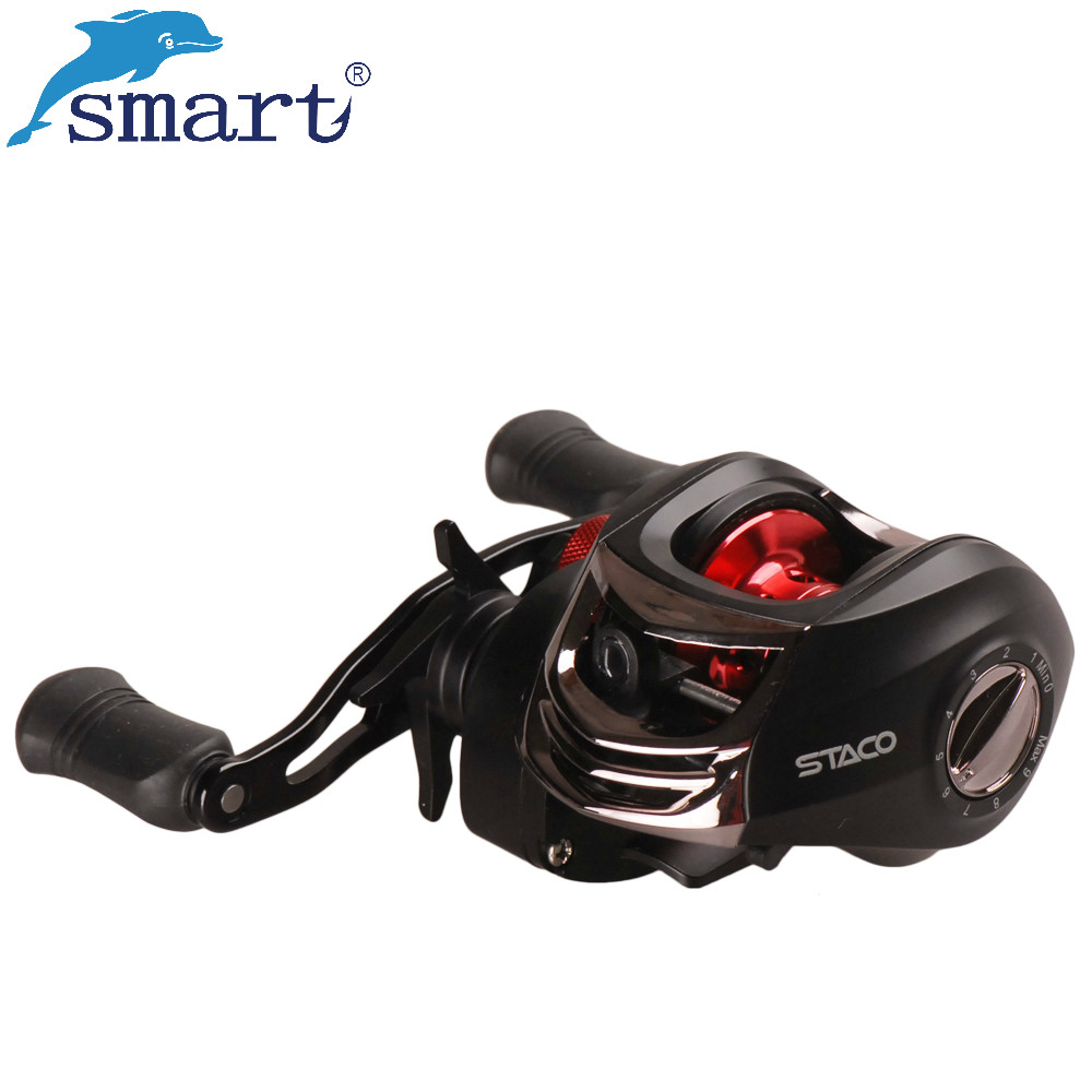Smart Baitcasting Reel 12 + 1BB Links / Rechts Aluminiumspule - Angeln