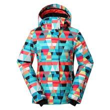 Gsou Snow Ski Snow Jacket Waterproof Windproof Coat Hiking Camping Cycling Jacket Winter Ski Jacket Women