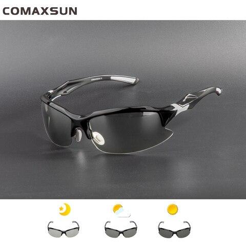 COMAXSUN Professional Photochromic Polarized Cycling Glasses Bike Goggles MTB Sports Bicycle Sunglasses Myopia Frame UV 400 Pakistan