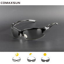 COMAXSUN Professional Photochromic Polarized Cycling Glasses Bike Goggles MTB Sports