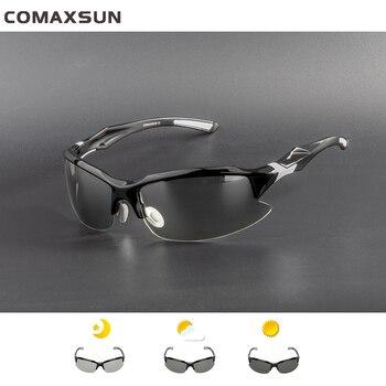30519845ae Gafas de ciclismo polarizadas fotocromáticas profesionales COMAXSUN gafas  de bicicleta MTB deportes bicicleta gafas de sol montura de miopía UV 400