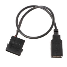 1Pc 30cm 5V 2-Pin PC Internal IDE Molex To USB 2.0 Type A Female Power Adapter Cable Cord for Computer Connector NEW C26