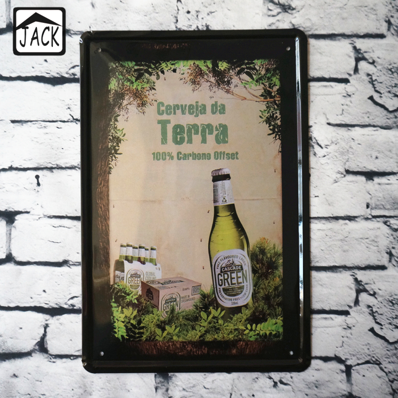 Green Beer Poster Advertising Plaques Metal Tin Signs Bar