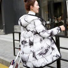 The new 2016 cotton-padded clothes more female in both sides big yards long coat to wear to keep warm cotton-padded jacket