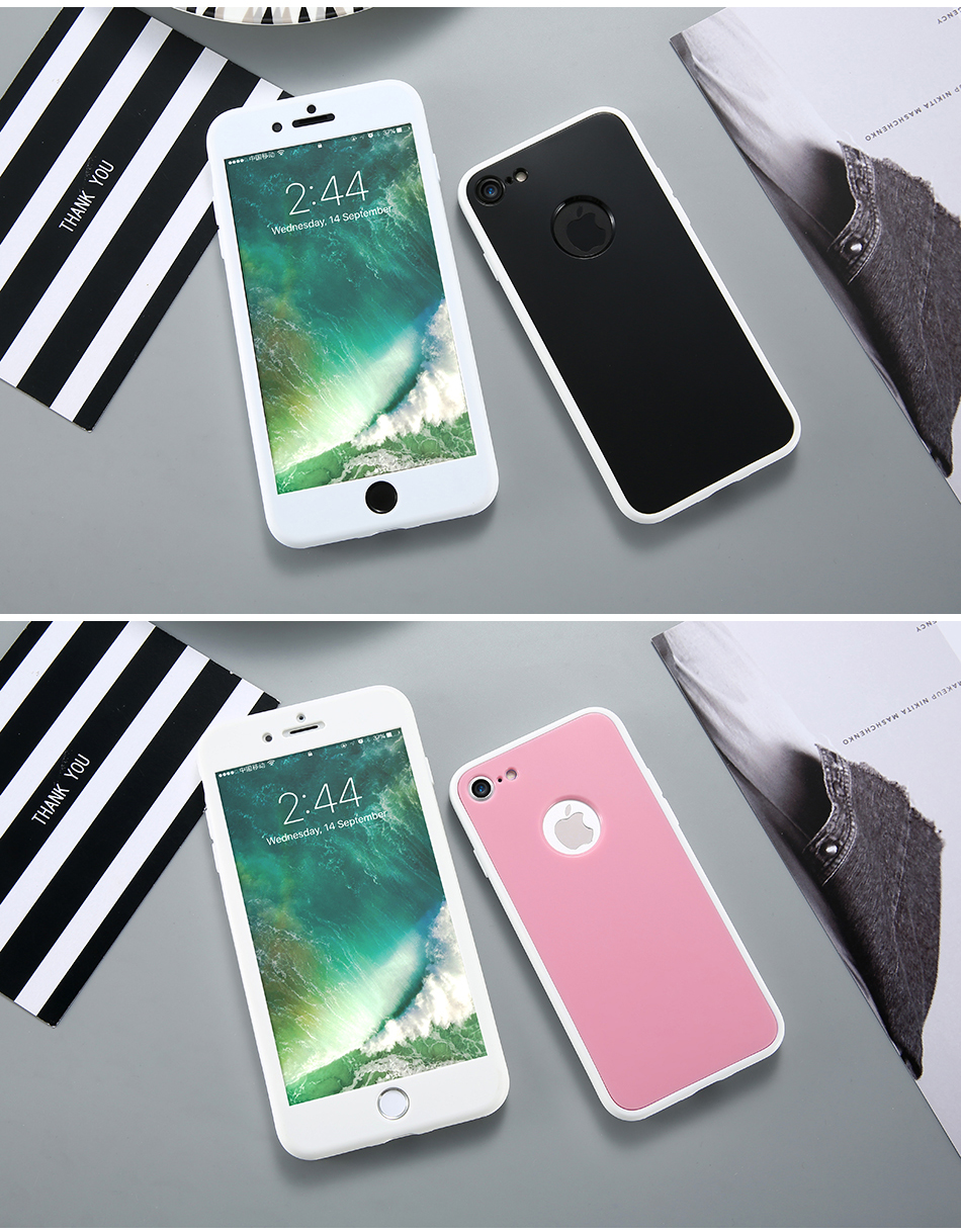 KISSCASE 360 Degree Coverage Phone Cases For iPhone 6 6s Plus 7 7 Plus Soft TPU Silicon Full  Protective Cover For iPhone 6 6s 7 (12)