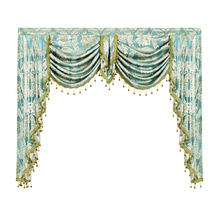 Valance Lambrequin Swag European Royal Luxury Valance Curtains for Living Room Window Curtains for Bedroom Valance Kitchen Gold(China)