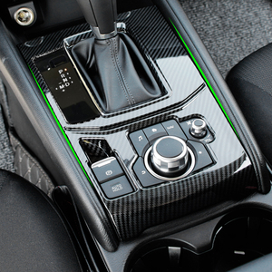 Image 2 - For Mazda CX 5 CX5 2017 2018 ABS Carbon Fiber Texture Car Gear Shift Panel Cover ONLY LHD