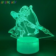 3d Led Night Light Lamp Game The Legend of Zelda Link Figure Home Decoration Light Birthday Gift for Kids Bedroom Nightlight Boy недорого