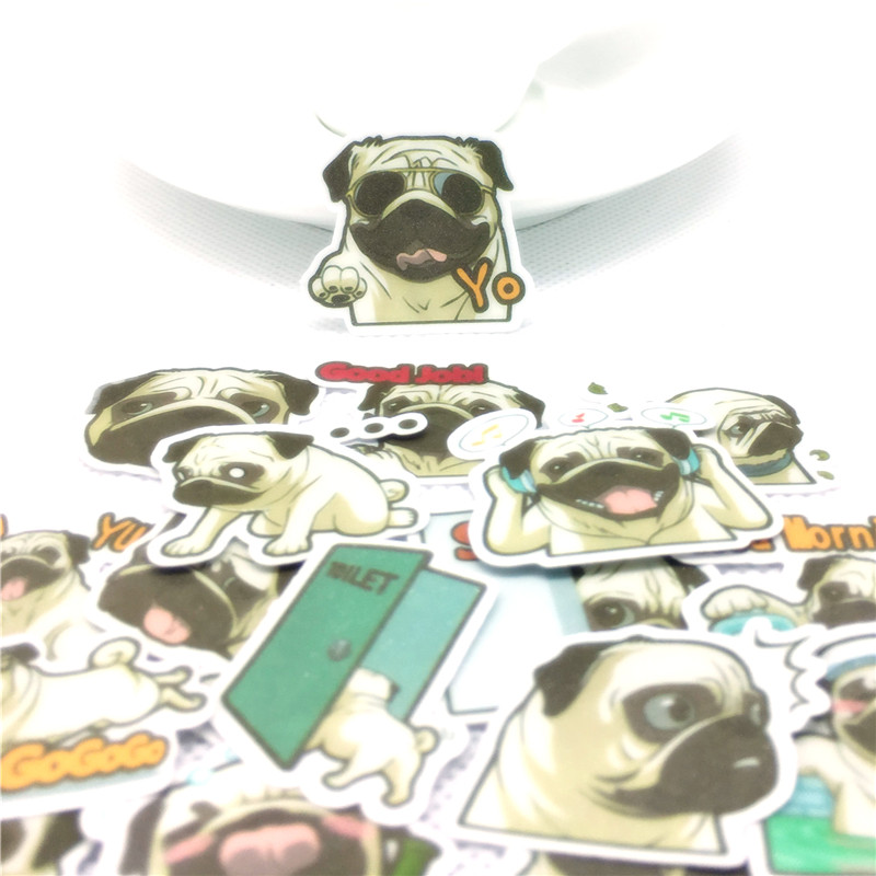 40Pcs Everyday Pug Is Funny Sticker For Kids Toys Phone School Supply Fashion Decoration Vinyl Decals DIY Stickers Scrapbooking