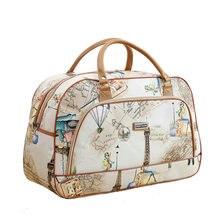Women Travel Bags 2019 New Fashion PU Leather Large Capacity Waterproof Print Luggage Duffle Bag Men Casual Travel Bags LGX28