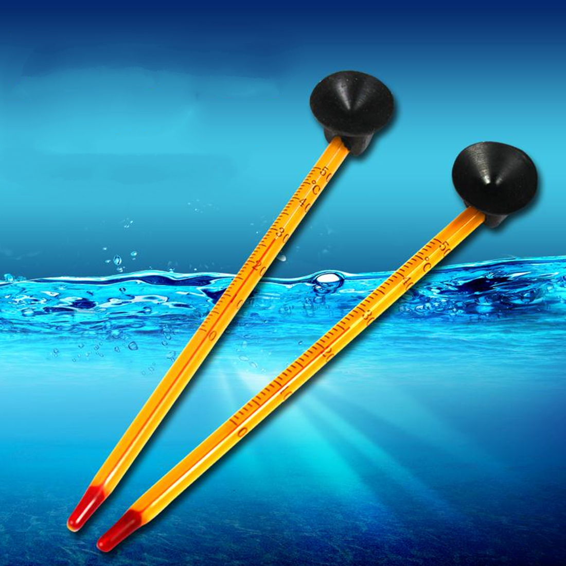 Aquarium Submersible Glass Thermometer With Suction Hydrometer Fish Tank Tools Aquarium Accessories Supplies Tools