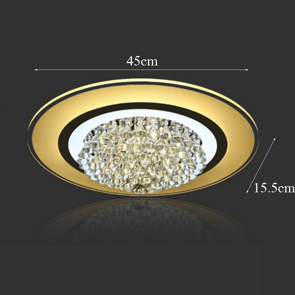HGHomeart Brilliant Crystal Plafondverlichting LED Luminaria voor De ...