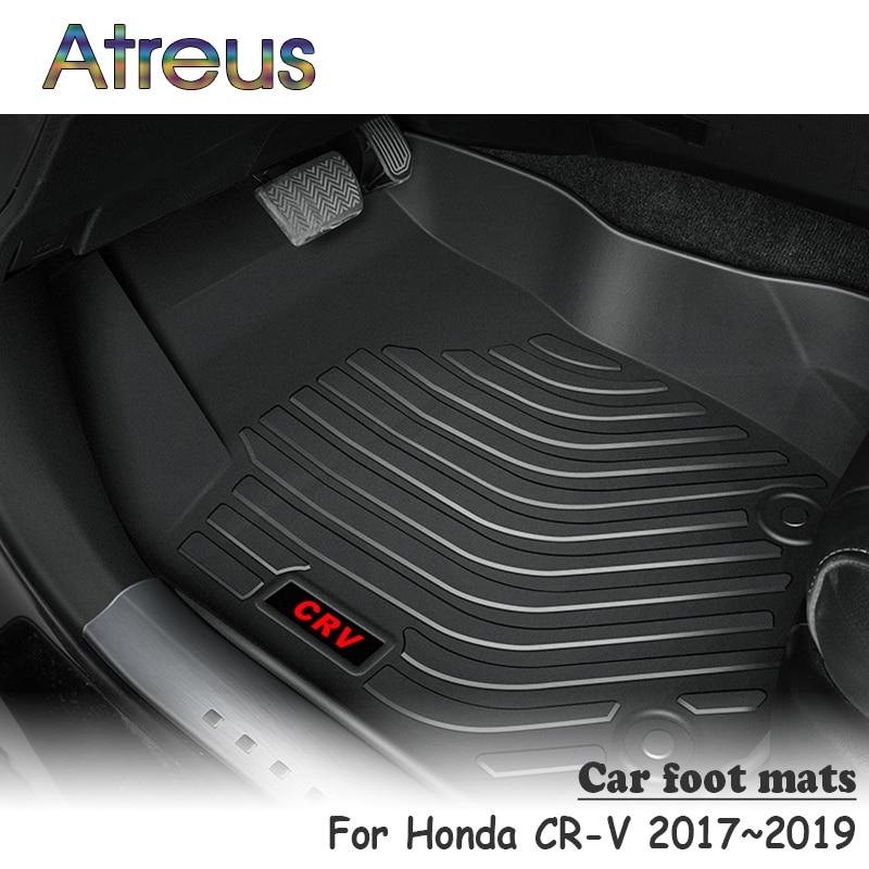 Atreus NEW 1Set TPE Car Floor Foot Mat For Honda CR V crv 2017 2018 2019