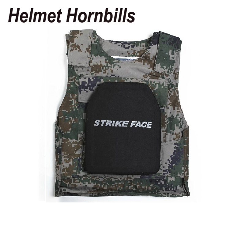 Helmet Hornbills 2PCS SIC&PE Level III Bulletproof Panel/Level 3 Stand Alone Ballistic Panel/Level 3 Body Armor Plates