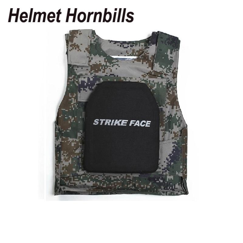Helmet Hornbills 2PCS SIC&PE Level III Bulletproof Panel/Level 3 Stand Alone Ballistic Panel/Level 3 Body Armor Plates helmet hornbills 2pcs lot 10 x 12 uhmwpe lvl iiia stand alone bulletproof panel level 3a ballistic panel plates