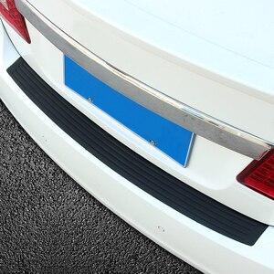 Image 5 - Car Styling Rubber Rear Guard Bumper Protect Trim Cover Pad Scuff Sill Protector Scuff For Skoda Octavia A7 Fabia Superb B6 Yeti