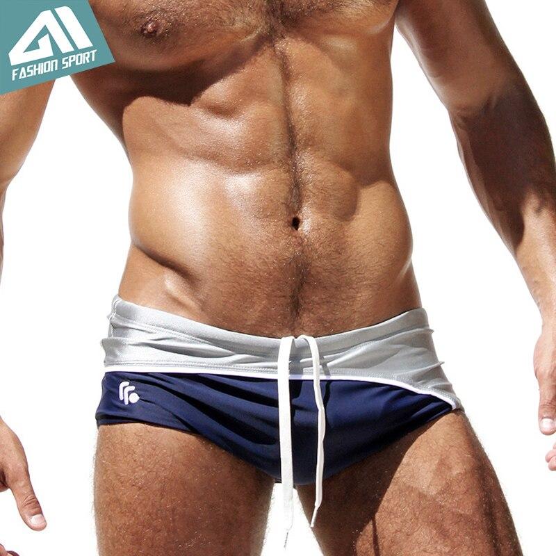 Clear Out New Men's Swimwear High Quality Low Men's Swim Brief Sport Beachwear for Men Summer Swimsuit Surf Board AQ03