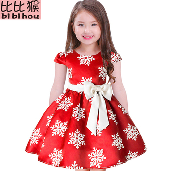 Girls Christmas Dress Snowflake Princess Dress 1