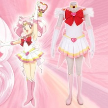 Японские аниме сейлор мун super s цукино сейлор чиби мун chibiusa косплей костюм делюкс fancy dress хеллоуин костюмы