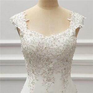 Image 5 - Jeanne Liefde Chiffon Mermaid Trouwjurken 2020 Kralen Applique Lace Robe De Mariage Vestido De Noiva Brida Jurken Wedding Gown