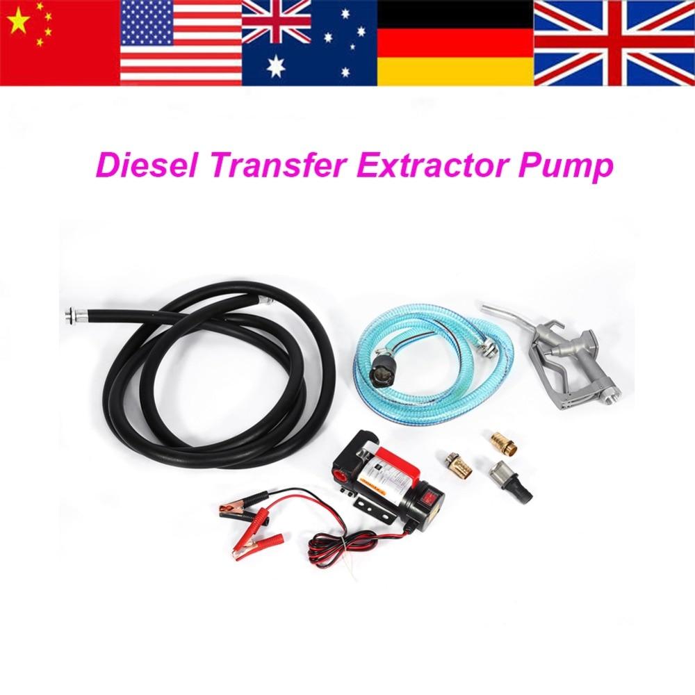 1 PC 12V Fuel Transfer Pump Diesel Extractor Pump Electric Diesel Fluid Extractor Auto Oil Transfer