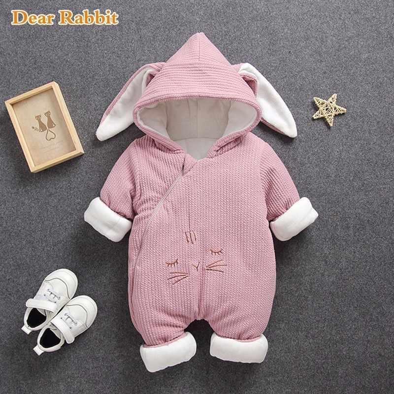 2020 nuevos monos enteritos para bebé ropa de invierno para niño y niña ropa gruesa de algodón puro cálido chaqueta de lana ropa de nieve para niños