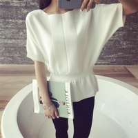 The New Spring And Summer 35 Korean Women S Waist Sweater Sleeve Head BianFuShan F1716